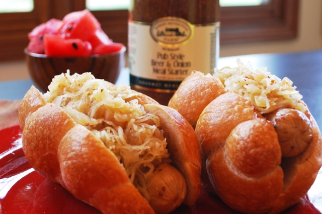 Pub Style Beer & Onion Brats