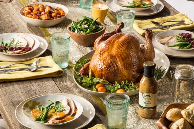 Roasted Turkey with Gourmet Cranberry Honey Mustard Glaze