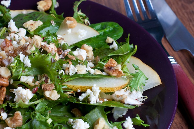 Pear & Walnut Spring Salad