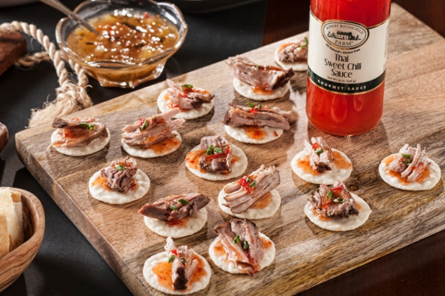 Thai Sweet Chili Asian Pork Canapes