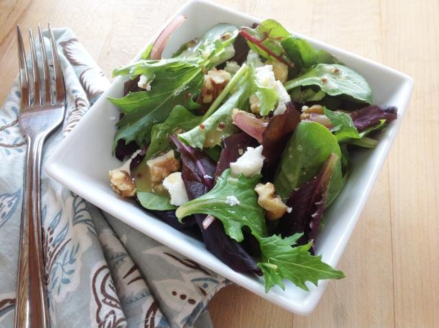 Mixed Green Salad with Raspberry Honey Mustard Vinaigrette