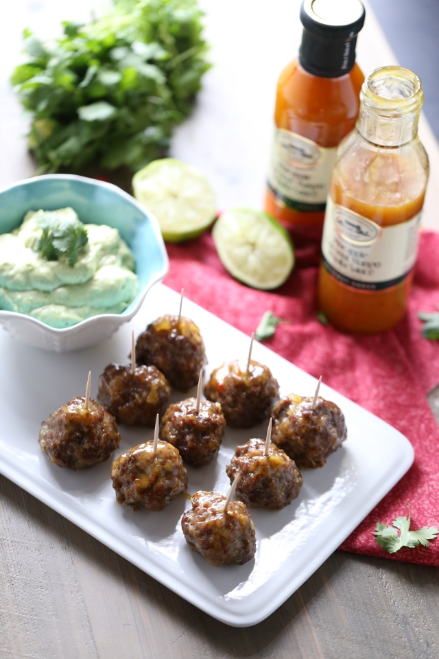 Pineapple Coconut Mango Tequila Cocktail Meatballs-7