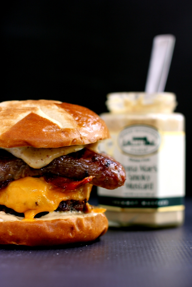Sweet and Smoky Bacon Brat Burger 5_MM