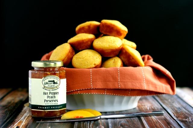 Hot Pepper and Peach Cornbread Muffins 1_MM