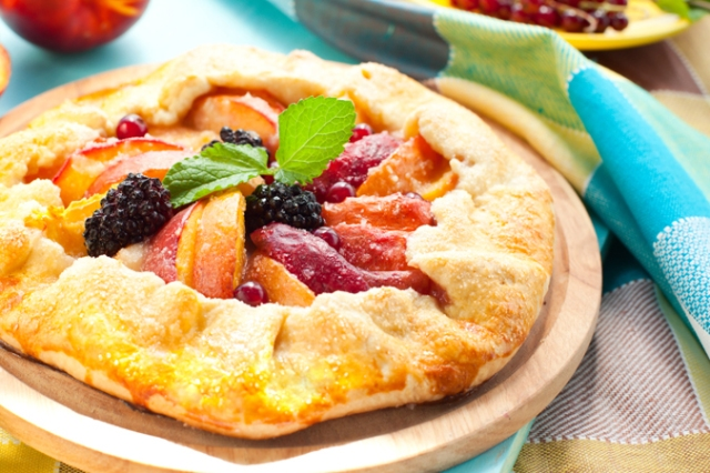 Hot Pepper Peach Fruit Tart